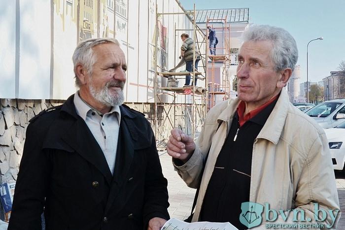 На Мицкевича создают панно с видами старого Бреста