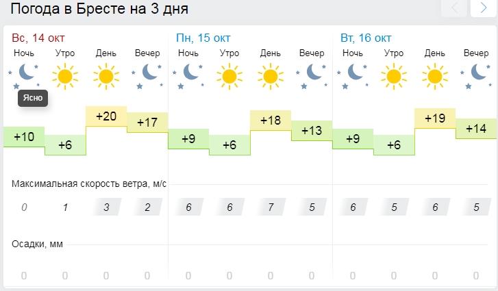 Заморозки до -2°С местами в Беларуси прогнозируются 15 октября
