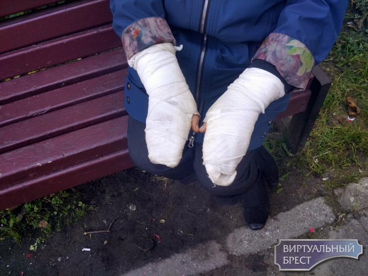 Переломами запястий рук и носа закончились прогулка по двору дома № 68 по улице Гоголя