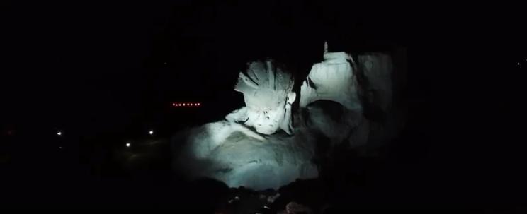 Брестская крепость ночью с высоты