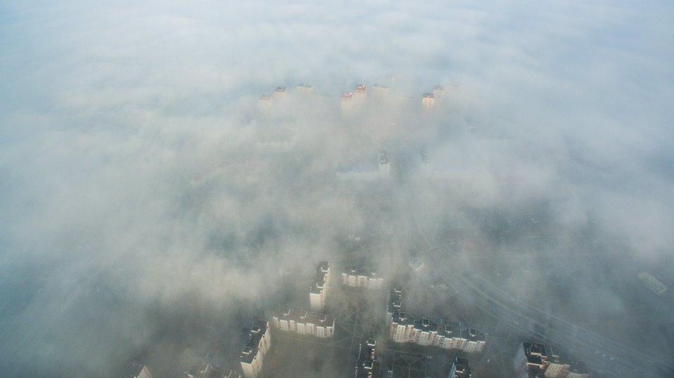 Как выглядит туманный Брест с высоты