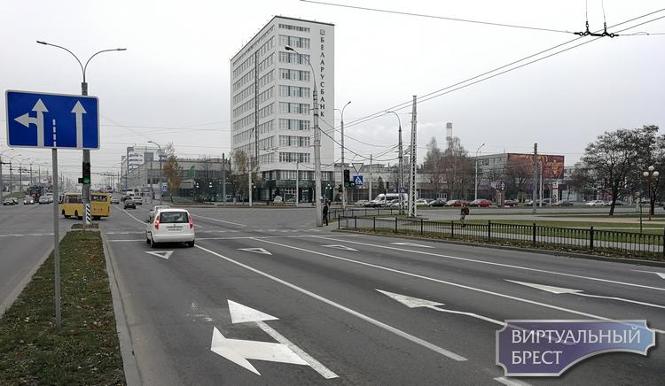 С ул. 28-го Июля через Московскую на Пионерскую едем по-новому: три ряда прямо