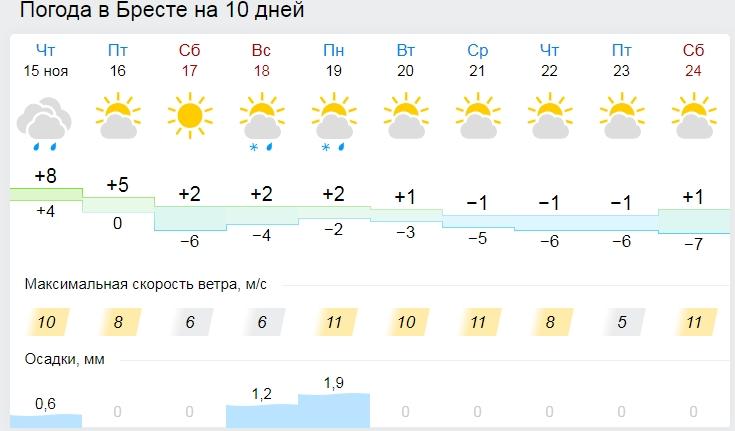 В Брест идут морозы... До минус 6 ночью с пятницы на субботу. Кому надо волноваться?