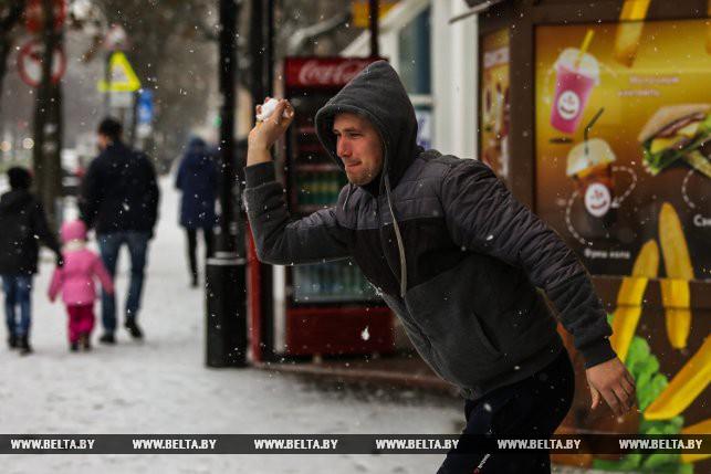 ФОТОФАКТ: Снежный Брест 18 ноября 2018 года