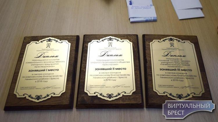 В Ленинском районе наградили победителей смотра-конкурса по благоустройству