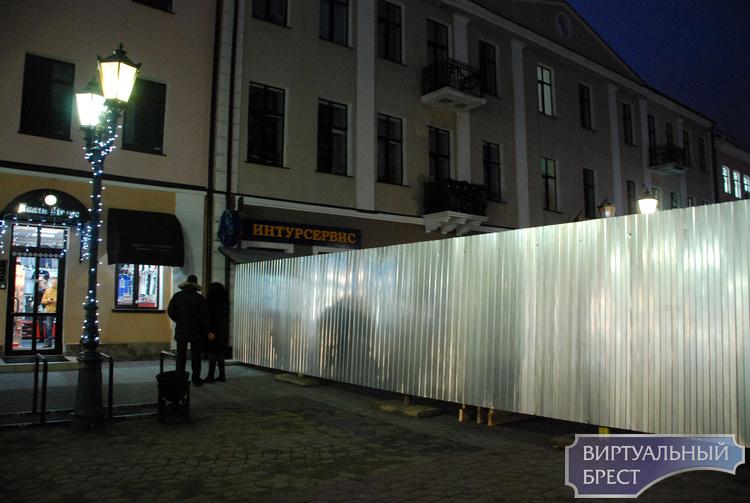 На ул. Советской в пешеходной зоне существенно ограничено движение. Что происходит?