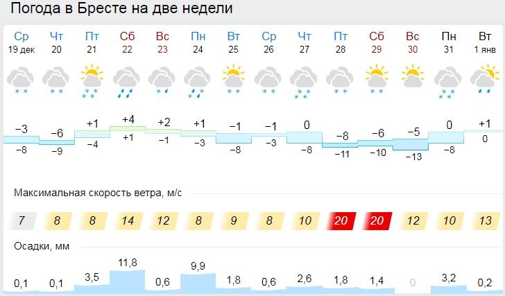 До -16°С ожидается в Беларуси ночью 20 декабря. А в Бресте?