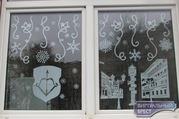 На окнах яслей-сада №20 Бреста появились исторические вытинанки