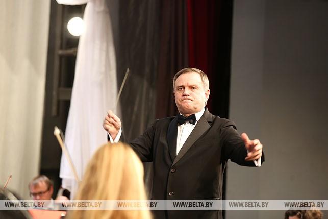 Дирижер национального академического симфонического оркестра Белтелерадиокомпании Александр Сосновский