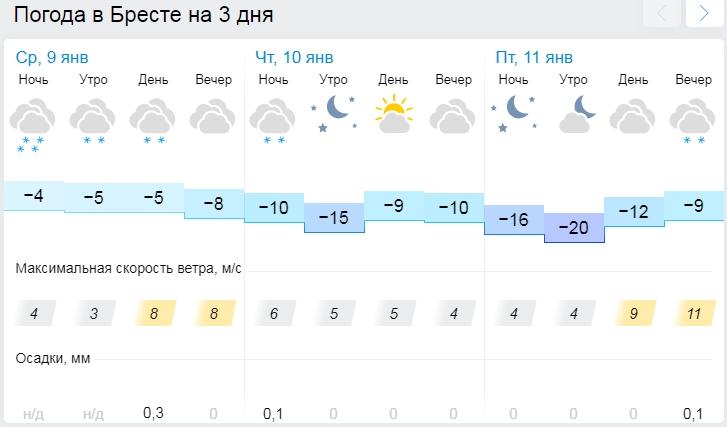 Ещё два дня морозов - а там уже и оттепель! Готовимся к минус 20 в Бресте