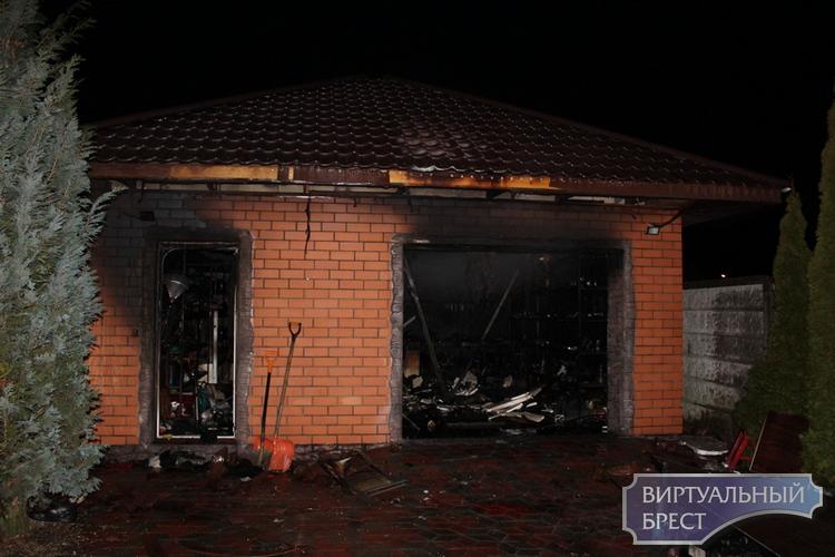 На ул. Юбилейная в городе Бресте произошел пожар в гараже