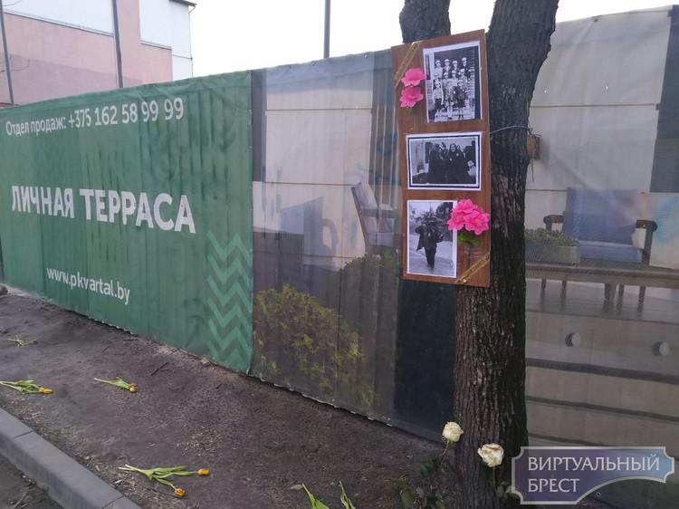 Напротив стройки на Машерова устроили фотовыставку