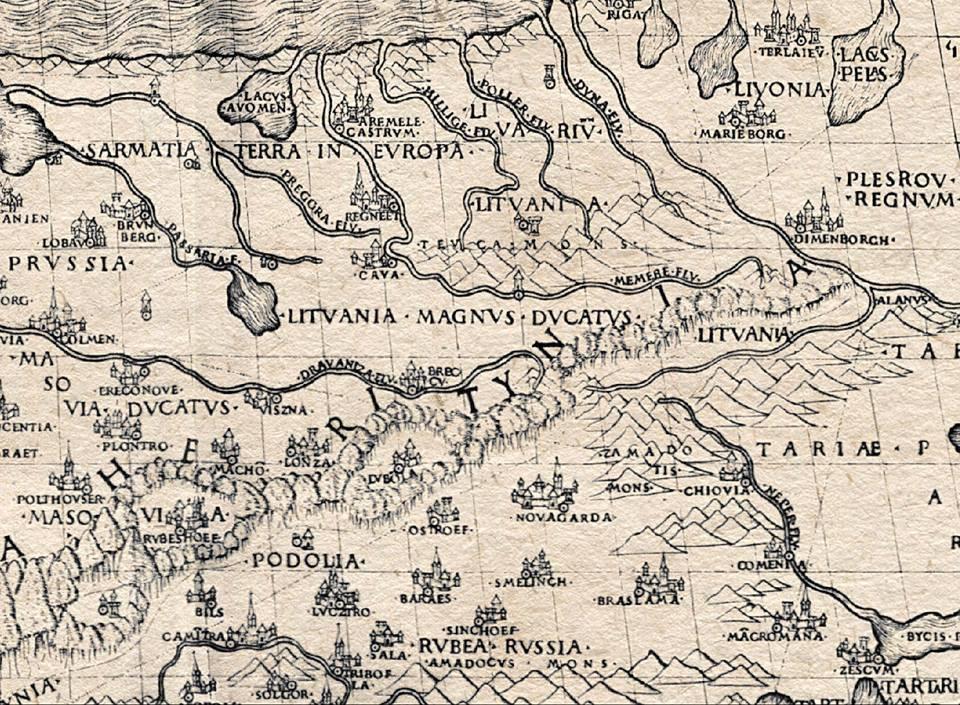 Брест - (Breccy): первое упоминание на печатных картах датируется 1491 годом