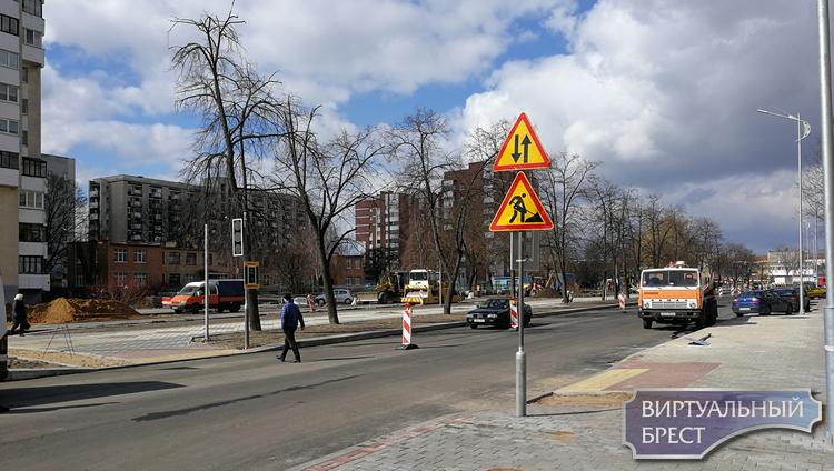 До 7 апреля будет перекрыт участок бульвара Космонавтов. Зато открыли выезд с Мицкевича