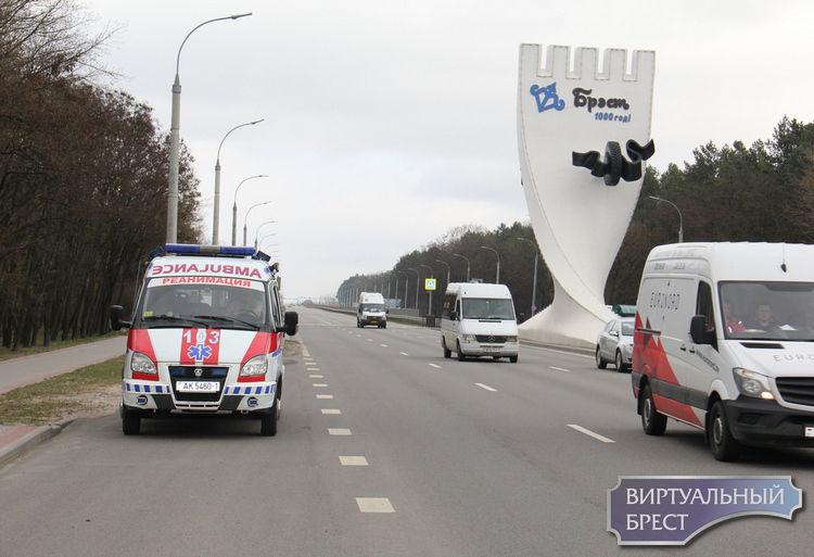 Состоялся тренировочный прогон автомобиля скорой помощи совместно с ГАИ