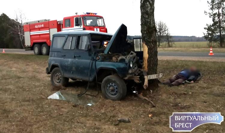 В Пружанском районе УАЗ врезался в дерево - пострадал водитель