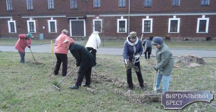 Молодежь и ветераны труда Ленинского района приняли участие в экологическом субботнике