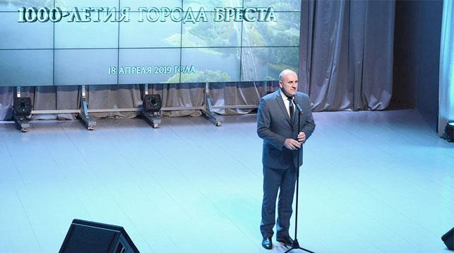 Василий Черник во время презентации