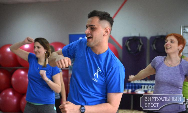 В Бресте прошла бесплатная тренировка в латиноамериканском ритме
