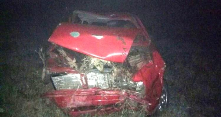 В Пинском районе водитель не справился с управлением автомобиля и съехал в кювет