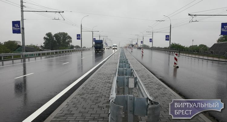 Кобринский мост открыли для движения автомобилей в обе стороны