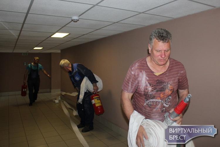 В гостинице «Акватель» прошли учения спасателей ГОЧС