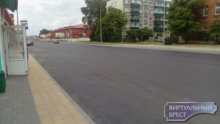 Произведена замена верхнего покрытия улицы Брестских дивизий