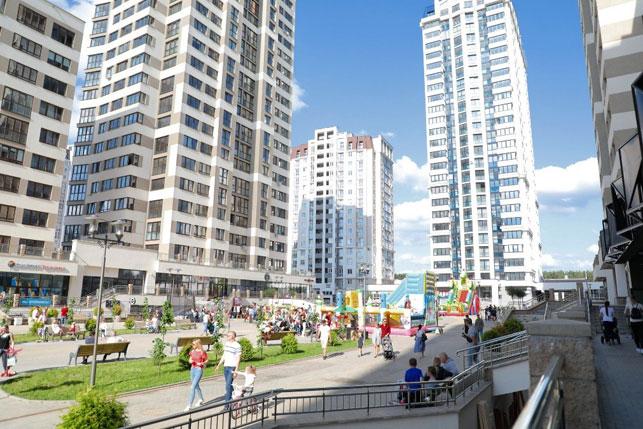 Красивейшая пешеходная улица жилого комплекса - бульвар Пикассо