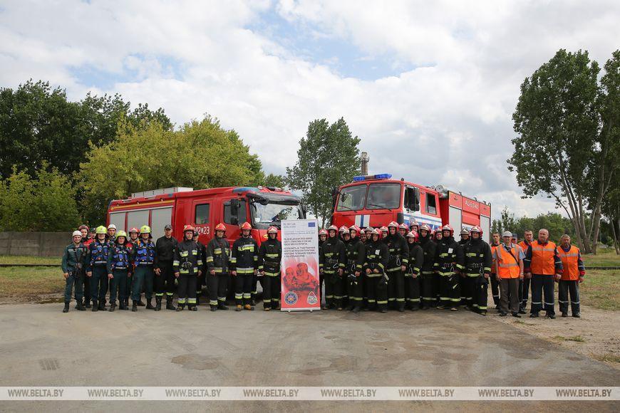 Белорусские и польские спасатели провели учения в Бресте