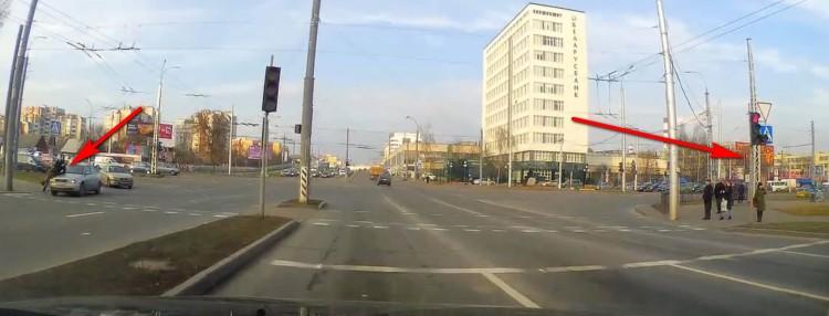 Парень бесстрашно шагнул на пешеходный переход и немедленно пожалел об этом
