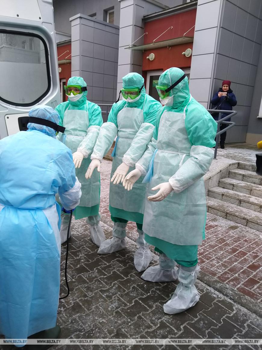 Санитарные и медслужбы Бреста продемонстрировали готовность к борьбе с коронавирусом