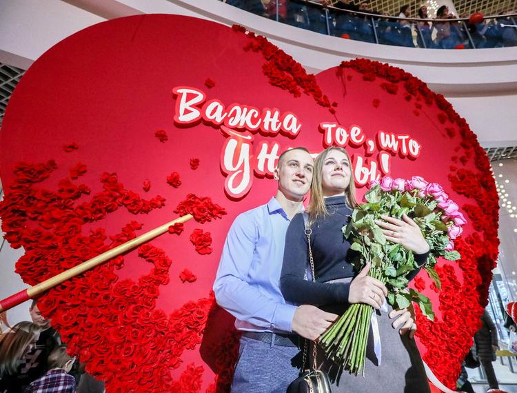 Знай, это любовь! В «Дана Молл» грандиозно отметили День влюбленных