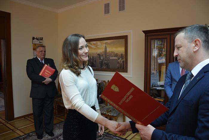 В горисполкоме наградили работников Брестского академического театра драмы