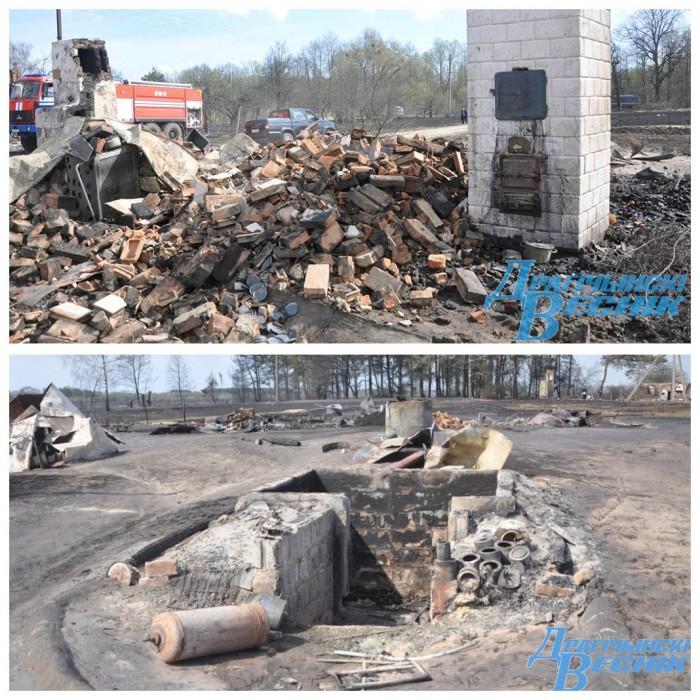 Увидеть войну... Смотрите, что осталось от деревни Старомлыны, где бушевал сильнейший пожар