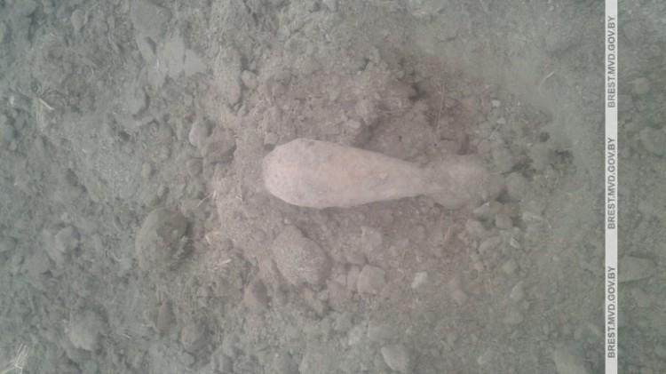 В Кобринском районе обнаружена минометная мина