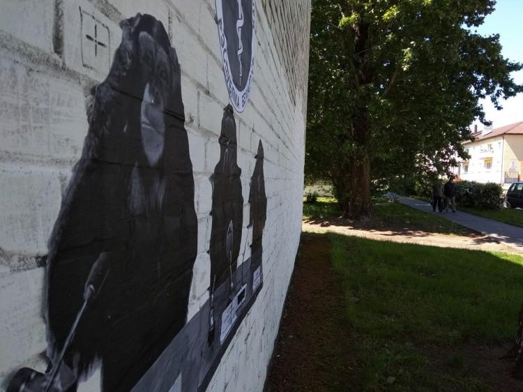 Сатирический стрит-арт на тему молчания Минздрава в центре Бреста не «прожил» и дня