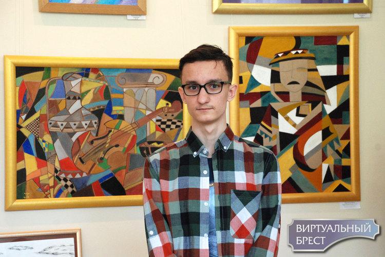 Он любит дачу и деревню. Открылась выставка 16-летнего Ильи Харитановича «Калейдоскоп»