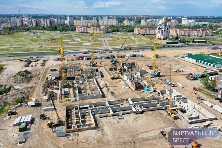 ГППСУП «Объединение Брестоблсельстрой» продолжает строительство многопрофильного медицинского комплекса в г. Бресте