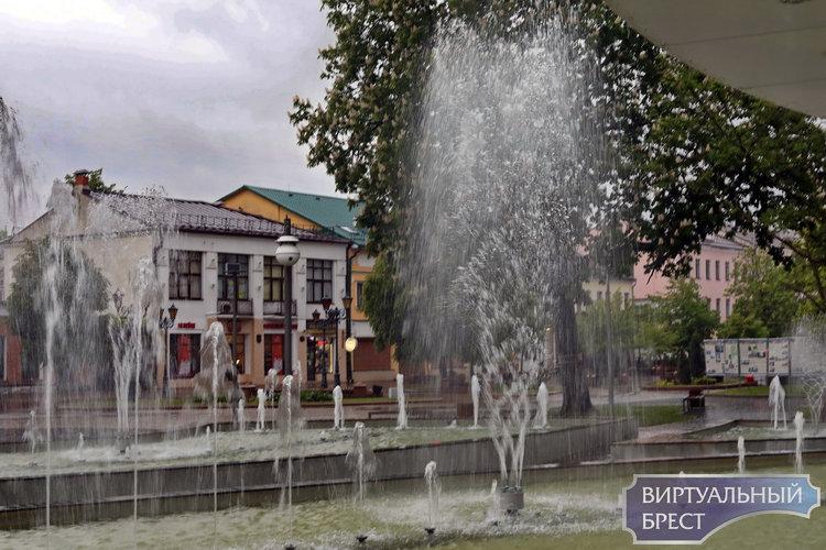 Циклон поливает город, а фонтан фонтанирует, идёт сбор подписей, велосипедисты рассекают