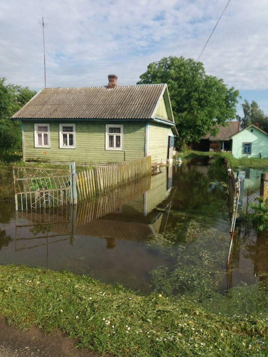 Около 40 подворий оказались подтопленными в Дрогичинском районе