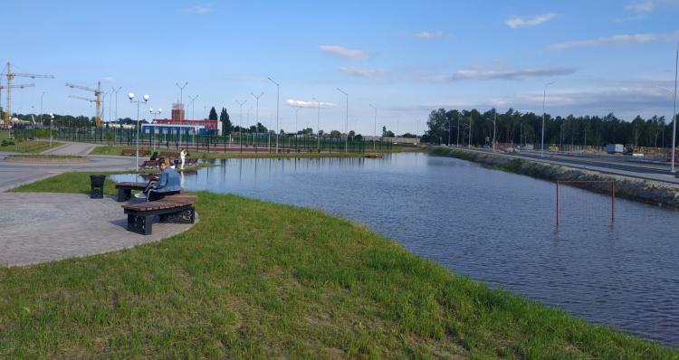 Такого вы ещё точно не видели... В парке Тысячелетия образовалось озеро, и там купаются