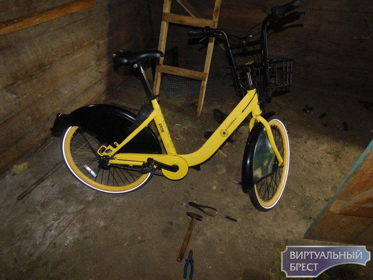 Житель Пинского района подозревается в краже велосипеда  (прокатного колобайка)