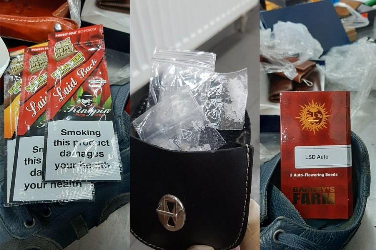 Россияне возвращались через Беларусь домой из Чехии и везли с собой марихуану и пистолет