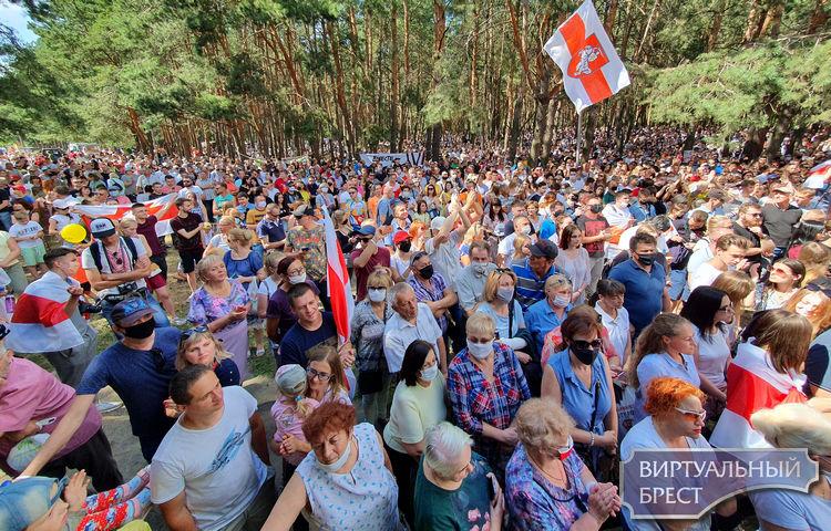 Правозащитники посчитали, что на митинг в Бресте собралось более 18 тысяч человек