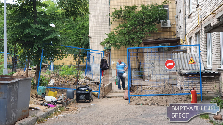 На ул. Маяковского в Бресте идут работы, движение ограничено